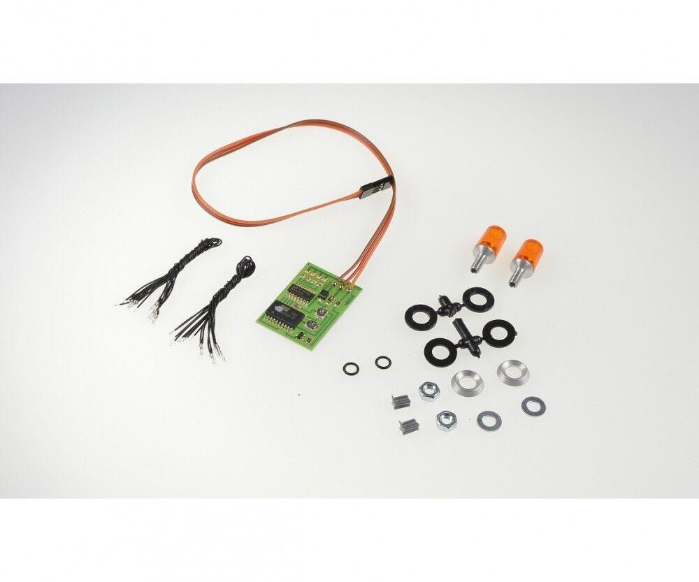 Carson 500907125-luce lampeggiante arancione M. E.  2  15x10mm-NUOVO