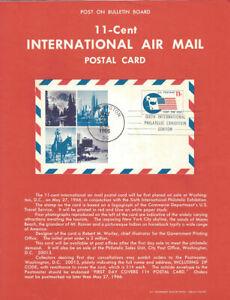 #UXC5 International Postal Card Poster - Souvenir Page Flat w/Show Cancel
