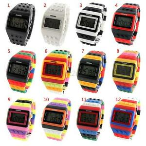 Men-Women-Multi-Color-Block-Brick-Style-Wrist-Watch-With-Led-Night-Light