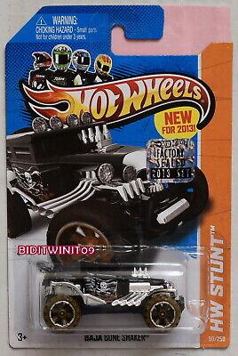 Black Version 2013 Hot Wheels HW STUNT Baja Bone Shaker 90//250