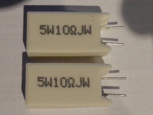 5 Watts , 10Ohm 2pcs Ceramic Resistor 5W 10 Ohms UK SELLER 2pcs