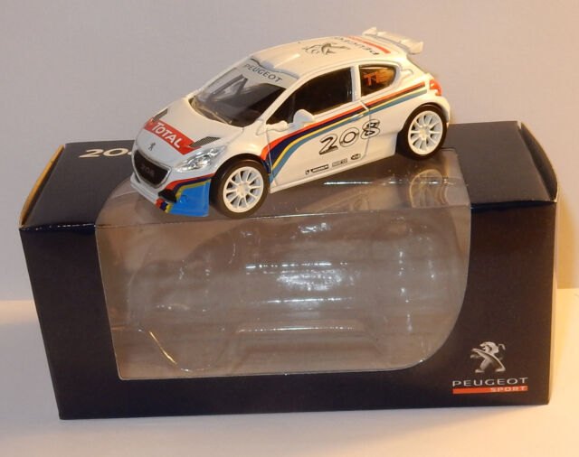 NOREV 3 INCHES 1/64 PEUGEOT SPORT 208 T16 RALLYE TOTAL in BOX