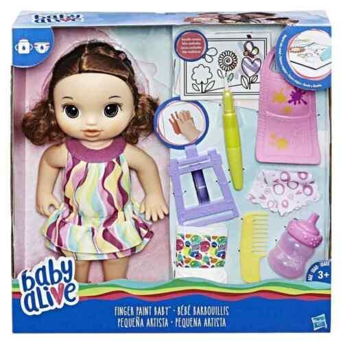 Brunette Baby Alive Finger Paint Baby