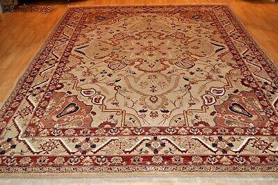 Fine Farhann Design Wool Silk 11x8 Ft New Handmade Floral