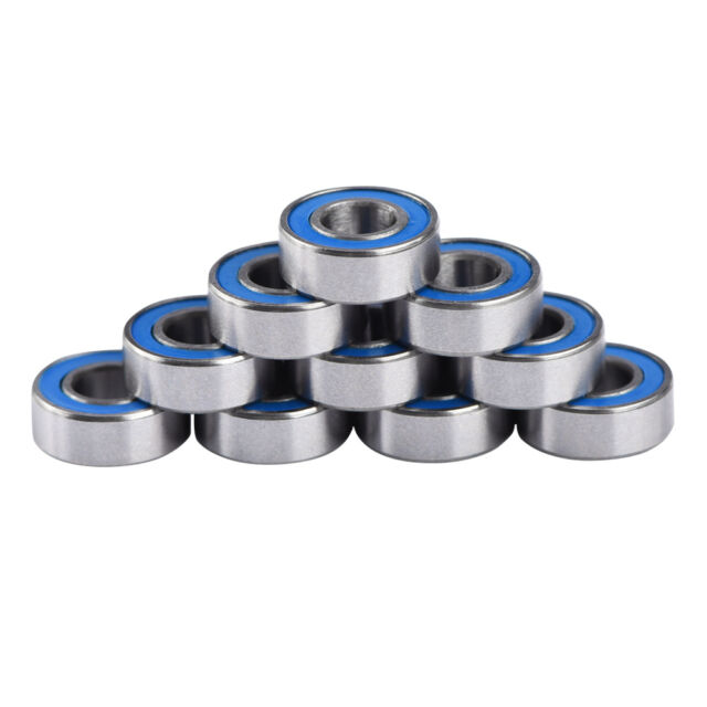 Yellow 5x11x4mm Replacement Precision Ball Bearings MR115-2RS 10