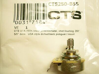 CTS-Poti 10mm Potentiometer 250 kOhm short solid shaft A log.