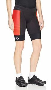 NWT-Pearl-iZUMi-Womens-Elite-Pursuit-Tri-Shorts-Black-Orange-Pop-Diffuse-Small