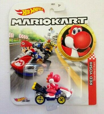 Mario Kart Hot Wheels Die-Cast Toy Cars Red Yoshi Std Kart NEW FREE POST V*RARE*