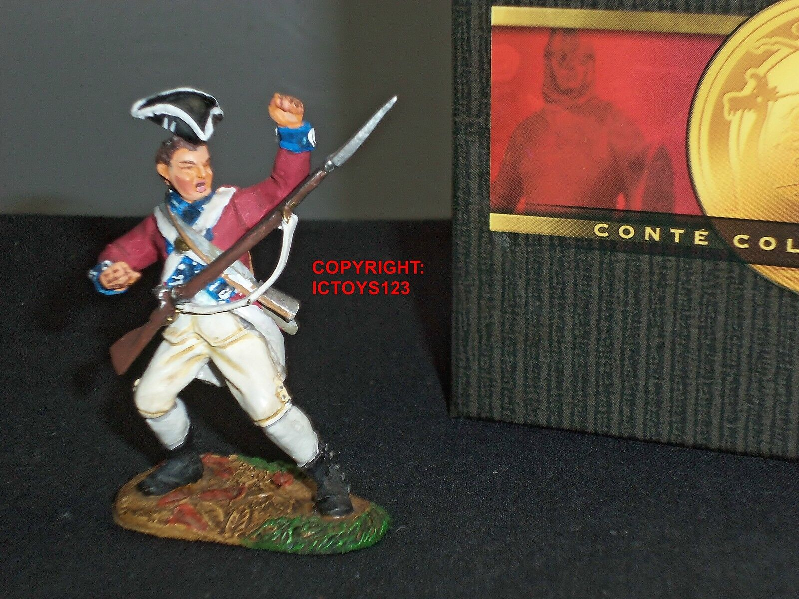 CONTE CCC2 COLLECTORS CLUB BRITISH 7TH REGIMENT CASUALTY TOY SOLDIER FIGURE