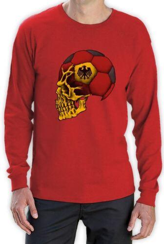 Germany World Cup Skull Long Sleeve T-Shirt Deutschland football soccer team
