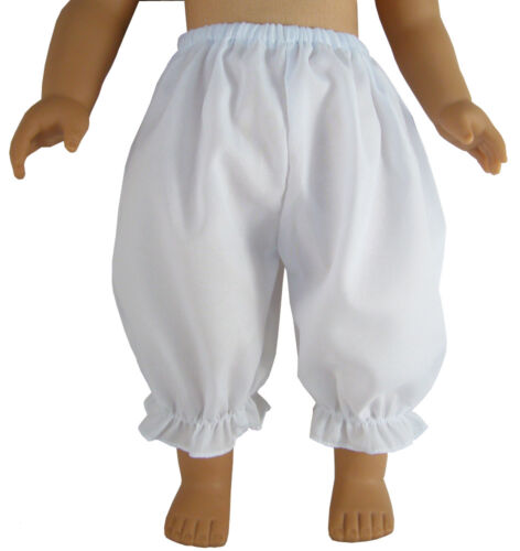 """Basic Plain White Bloomers made for 18/"""" Dolls such as American Girl Doll Clothes"""
