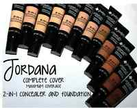 Jordana Complete Cover 2 In1 Concealer & Foundation Corrector Maximum Coverage