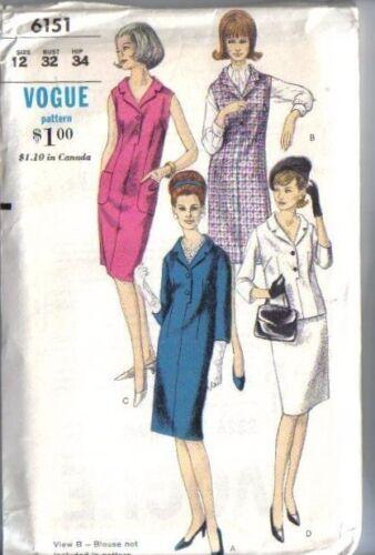 Vintage Vogue Sewing Pattern Misses Various Styles You Pick