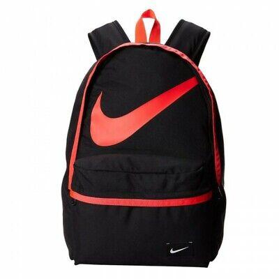 Nike Young Athletes Halfday Backpack Rucksack School Bag BZ9812 010 BlackRed | eBay