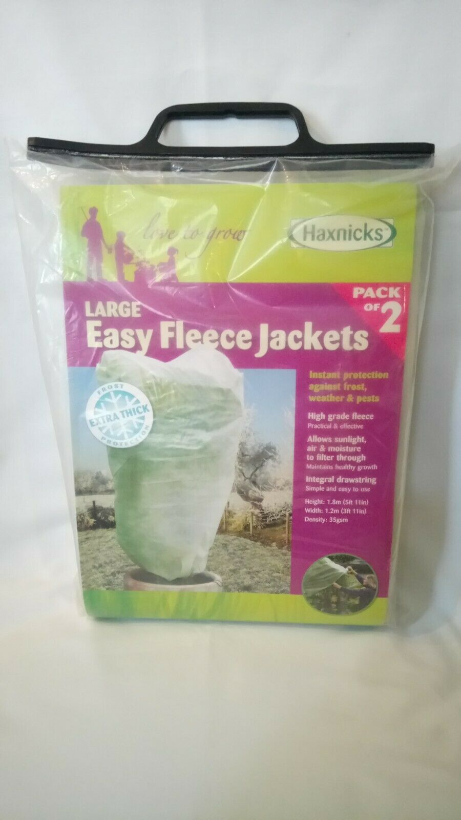 LAST ONE! Haxnicks Large Size Easy Fleece Jackets (Pack of 2)