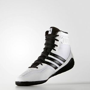 Adidas Mat Wizard 3 Wrestling Shoes White Boxing Boots Trainers ... 7b8180d29