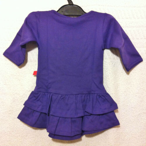Kids Girls Toddler Baby Long Sleeve Purple Tiered Party Casual Dress Fancy up