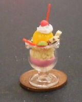 1:12 Scale Mixed Ice Cream Sundae Dolls House Miniature Kitchen Accessory I17
