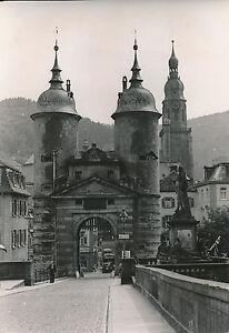 ALLEMAGNE c. 1940 - Tours de pont d'Heidelberg Clocher de l'Église - DIV8402 THvFJr6b-09165501-716615035