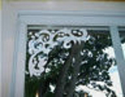 ETCHED GLASS CORNERS SET OF 8 DECALS
