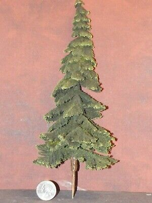 Dollhouse Miniature Spruce Tree D Green 1:12 scale 11.5 in tall T20 Landscaping