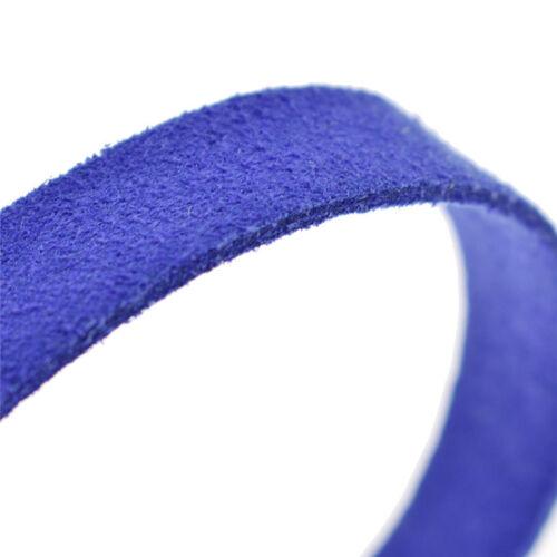 Sämischleder Band Kunstleder Handarbeit 5stk DIY Deko 10mm*1m Mehrfarbig Nähen