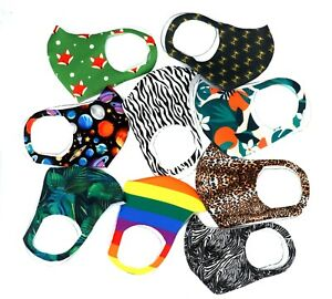 Washable And Reusable Face Covering Uk Stock Funky Face Masks Ebay