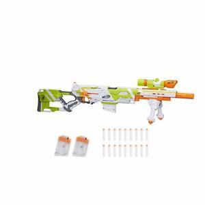 NEW-NERF-Longstrike-Modulus-Blaster-Gun-Toy-w-Barrel-Bipod-Scopes-EXCLUSIVE