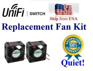 Pack of 2x New QUIET fans for Cisco SG350X-24P PoE Managed Switch Low Noise