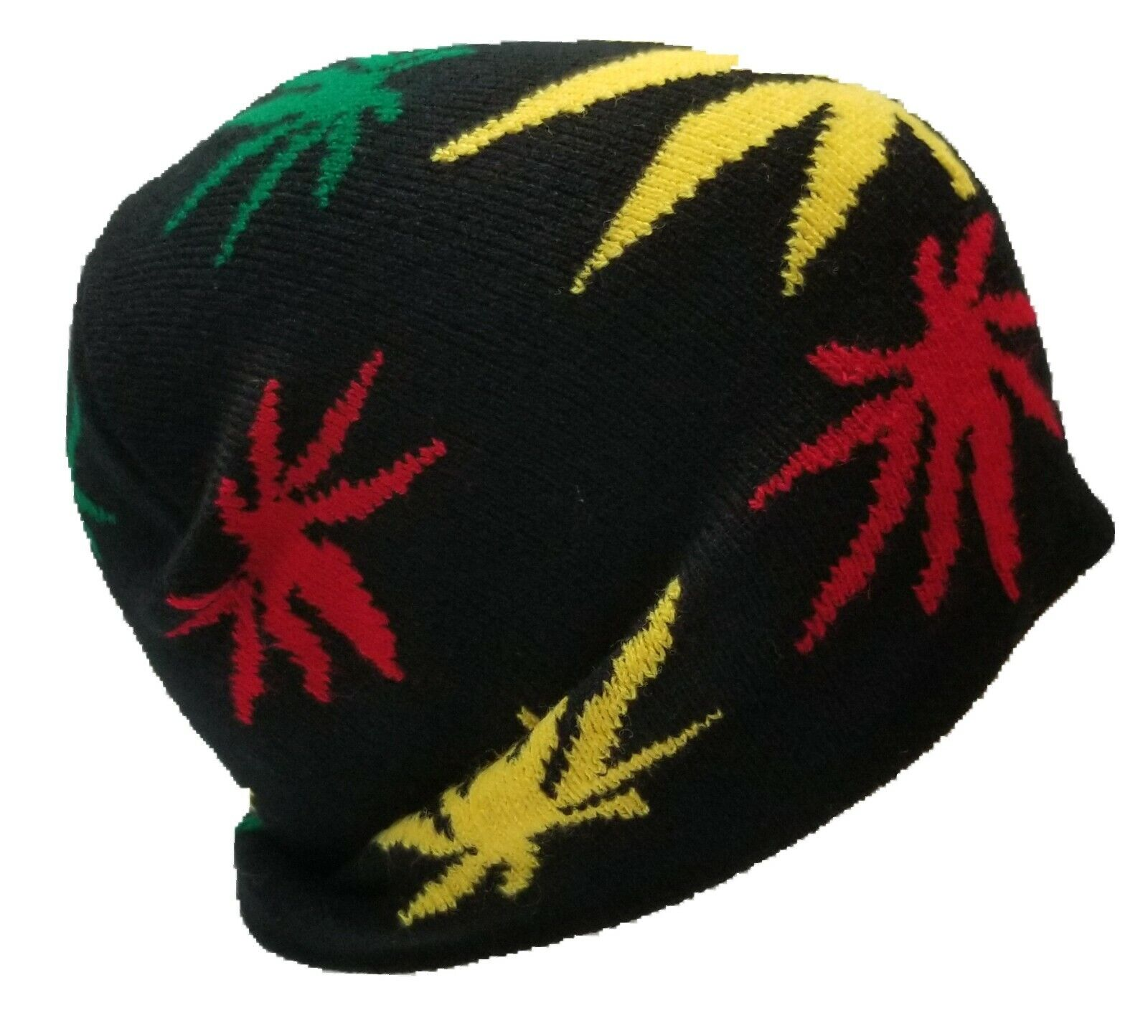 Rastafarian Pot Leaf Beanie Alternative Clothing Knit Rasta Marijuana Weed