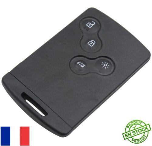 Carte De Démarrage 4 Boutons Smartcard Case Clef Clé Coque Renault Laguna Neuf