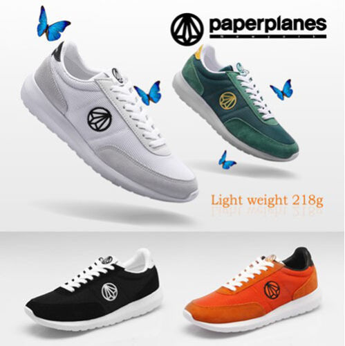 Paperplanes Mens Ultra Light Athletic Shoes Sports Running Lace Up Sneakers 1405