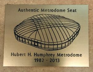 Hubert-H-Humphrey-Metrodome-Authentic-Seat-Plaque-Minnesota-Twins-Vikings