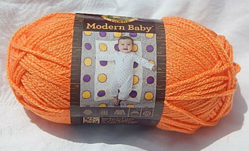 "New /& Smoke Free Home Discontinued Line Lion Brand /""Modern Baby/"" in Orange"