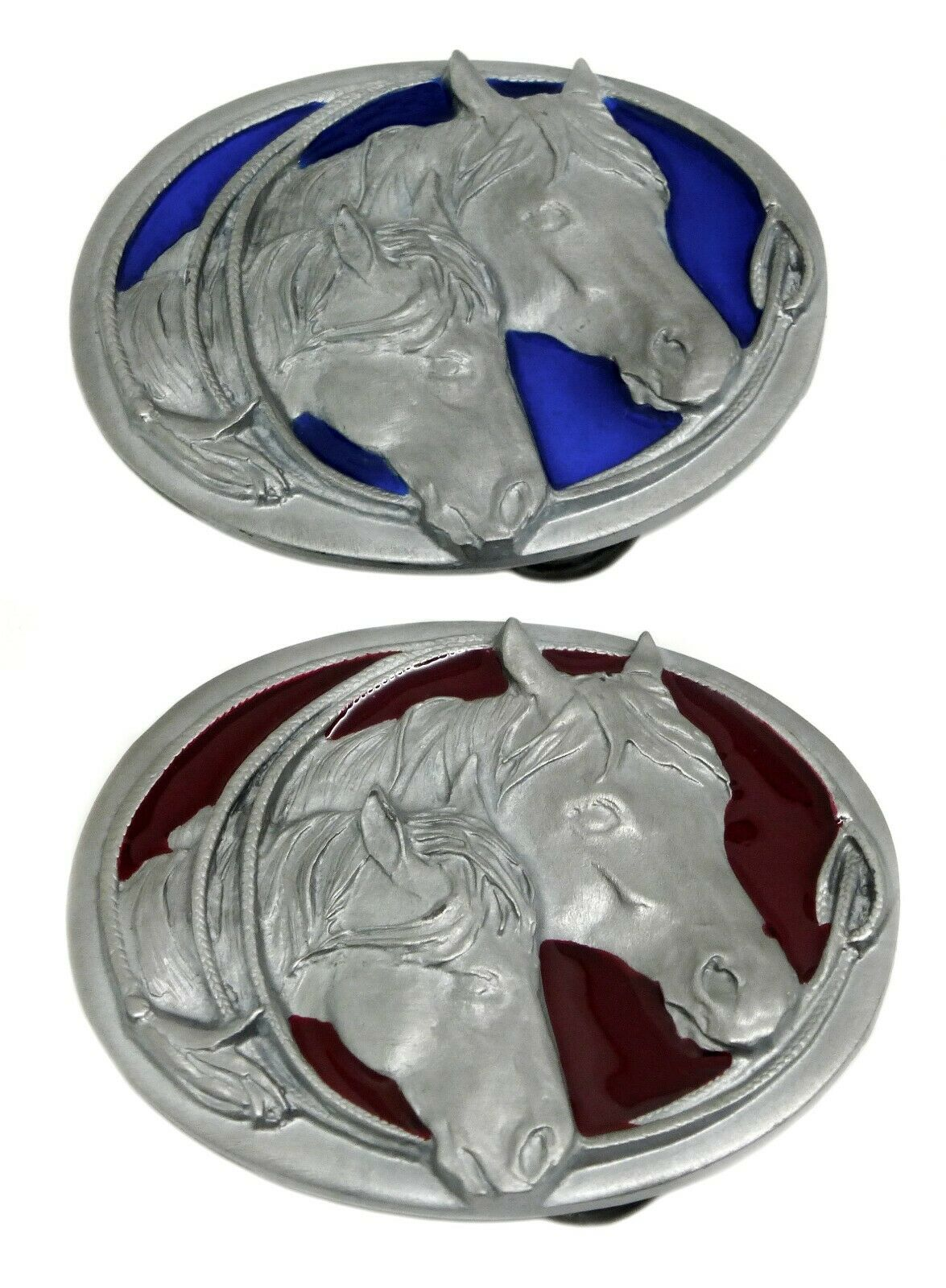 Horse & Foal Belt Buckle - 2 Colours American Western Themed Authentic Siskiyou