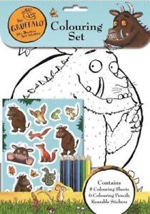 El Gruffalo Coloración Set 8 Fotos a Color Lápices & Pegatinas actividad 3080