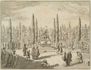 Chodowiecki (1726-1801). l'uguaglianza di tutti stand nella tomba; pressione grafico