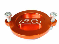 KTM 520 EXC EXCF EXCG SX RACING  OIL FILTER COVER CAP ORANGE ENGRAVED NEW B12J