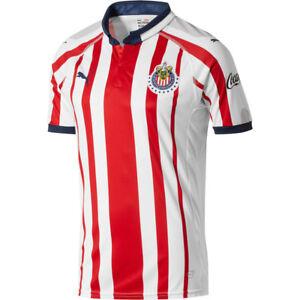 Chivas del Guadalajara Men/'s Home 2017 Soccer Jersey Stitched Logo