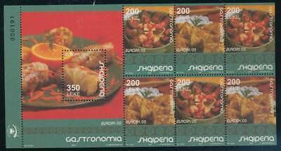 Gutherzig 241298 Europa Albanien Heftchenblatt Nr.9** Europa Cept Gastronomie