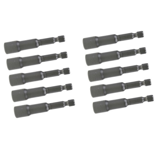 "10pcs 7mm Magnetic Nut Driver 1//4/"" Hex Shank Power Drill Socket Tool Bit Set"