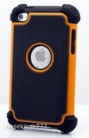 For Ipod Touch 4th 4 4g Itouch Case Triple Layer Black Orange Soft Hard \