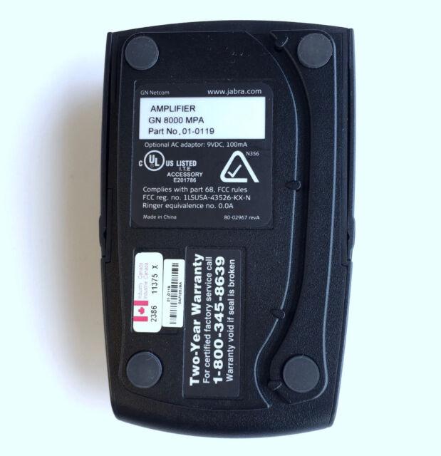01-0119 NEW UNUSED OPEN BOX Jabra GN8000 MPA Amplifier PN