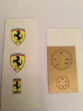 Vintage Kit Adesivi Stickers Set Restauro Restoration Ferrari Toschi Marchesini