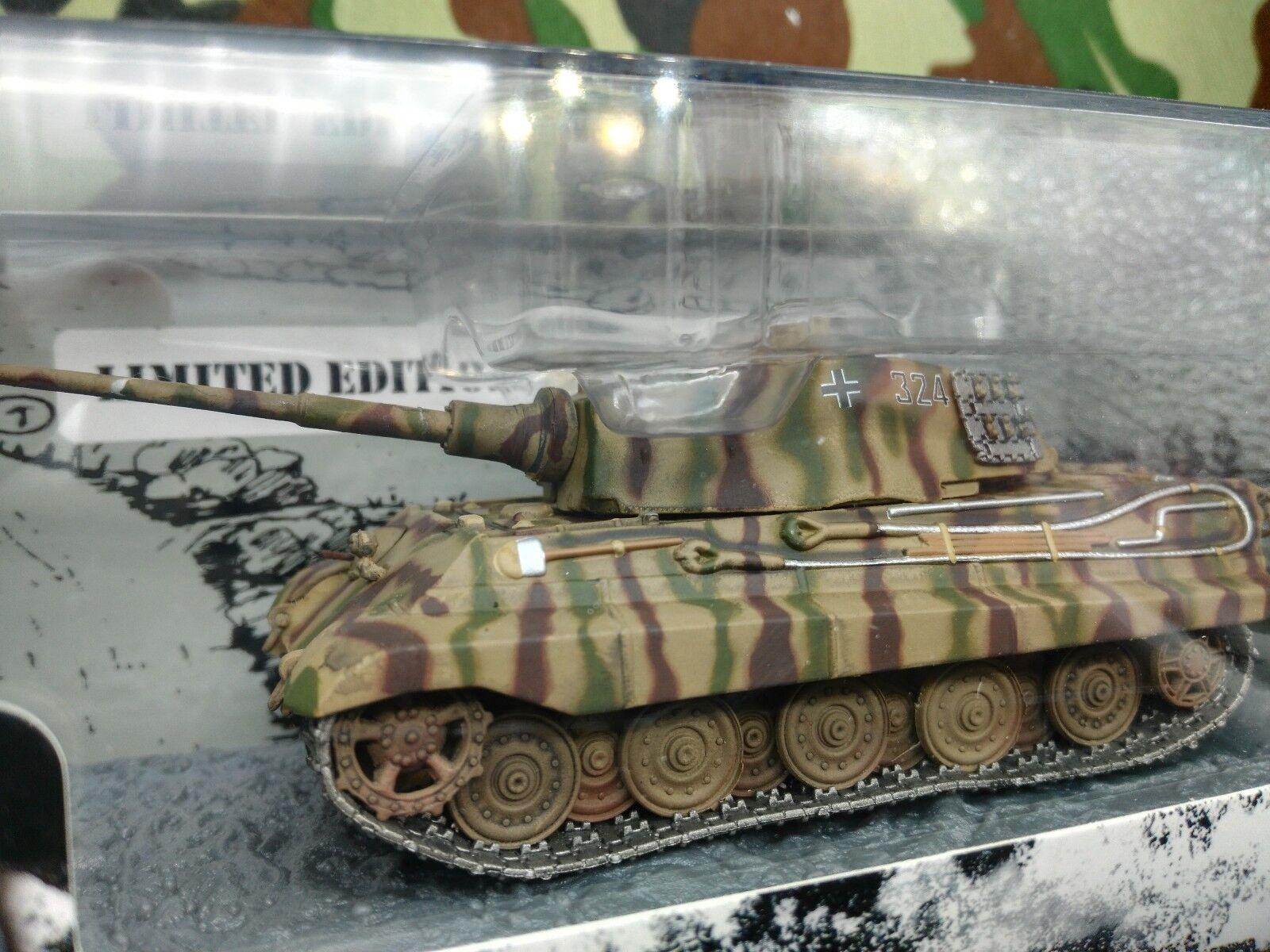 Warmaster  Dragon Armor 1 72 King Tiger II Tank voiturero Armato TANQUE  2018 magasin