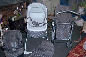 Mamas-and-Papas-Ultima-MPX-System-Pram-Pushchair-Car-Seat-Carrycot-High-chair