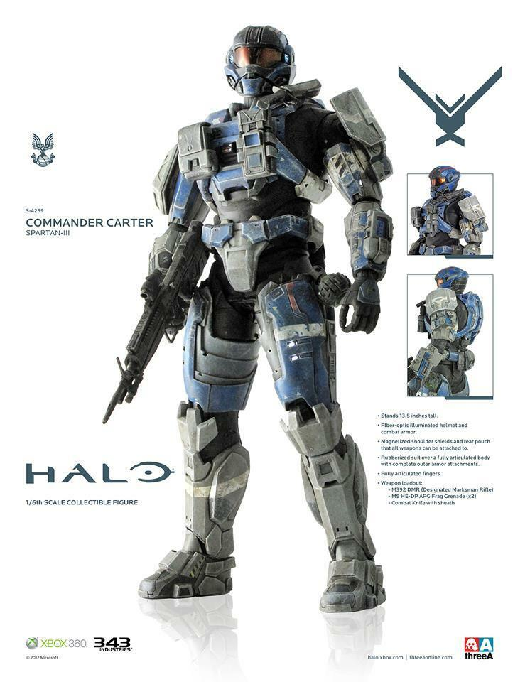 ThreeA HALO Reach - COMMANDER CARTER 13.5  Action Figure 1/6 Scale 3A 3AA XBOX