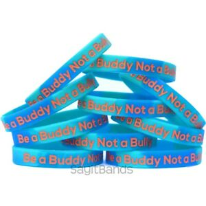 10 Be A Buddy Not Bully Wristbands
