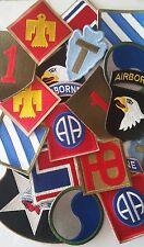Lot marchand de 50 Patches US 82nd 101st Airborne et divers au choix WW2 REPRO
