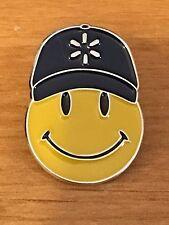 Rare Walmart Lapel Pin Happy To Help Smiley Spark Hat Promo Wal-mart Pinback